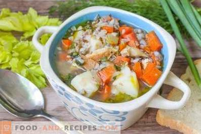 Soupe au poulet et au sarrasin