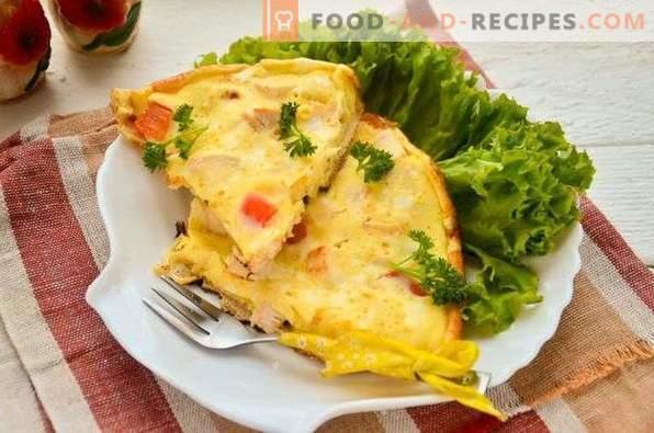 Omelette de poitrine de poulet