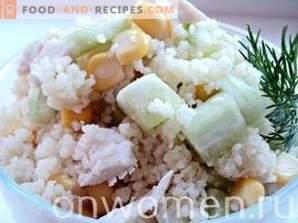 Salade au couscous et au poulet