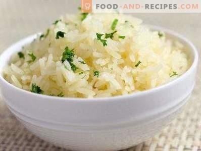 Riz friable pour la garniture
