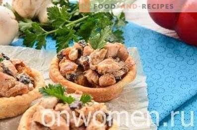 Tartelettes aux champignons et au poulet