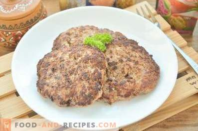 Côtelettes pour hamburgers au bœuf