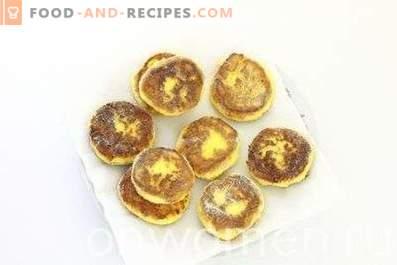 gâteaux au fromage à la farine de maïs