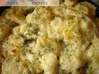 Pomme de terre au four avec du fromage dans une mijoteuse