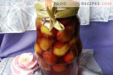 Prune marinée pour l'hiver