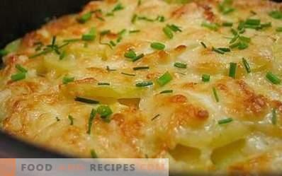 Pommes de terre au four avec du fromage