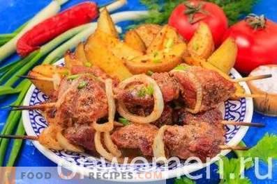 Brochette de porc au four