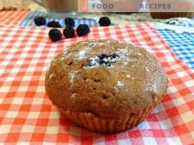 Muffins au chocolat et mûres