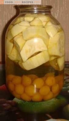 Compote de prunes et de courgettes pour l'hiver