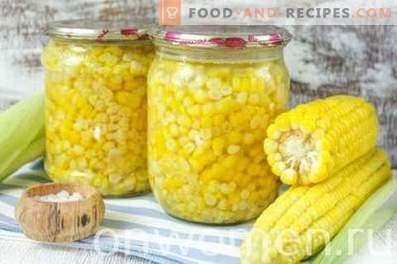 Maïs en conserve pour l'hiver