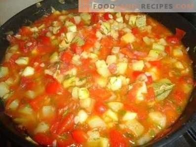 Compote de courges à la tomate