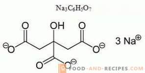 Citrate de sodium E331 - nocif, application