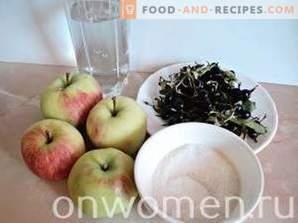 Compote de cassis et de pommes