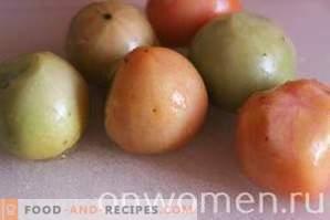 Tomates vertes marinées pour l'hiver