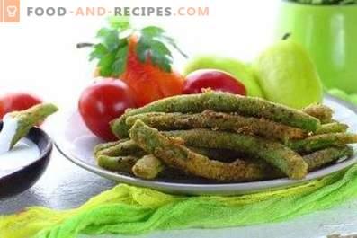 Haricots verts pour la garniture