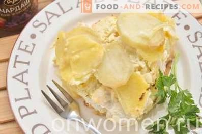 Casserole de pommes de terre avec du poulet au four
