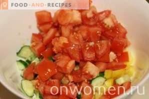Salade de crevettes à la grecque