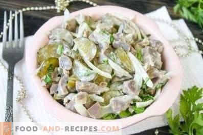 Salades d'estomacs de poulet