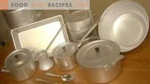 Endommagement de la batterie de cuisine en aluminium