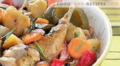 Lapin cuit avec des légumes dans une mijoteuse