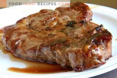 Steak de porc au four