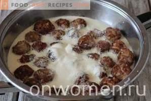 Boulettes de viande à la crème sure