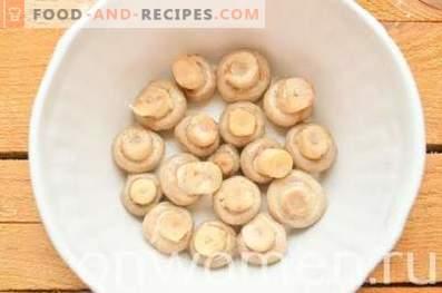 Salade de champignons avec champignons