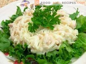 Salade de calamars à l'œuf
