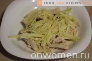 Salade d'avocat au poulet