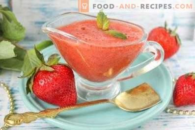 Sauce à la fraise pour viande