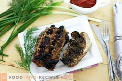 Carne con ciruelas en el horno