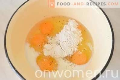 Omelette au brocoli et fromage au four