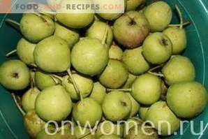 Confiture de poires pour l'hiver
