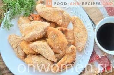 Poitrine de poulet cuite dans la chapelure