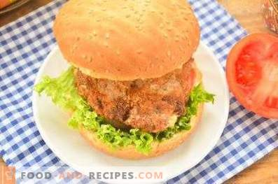 Hamburgers au poulet et au fromage