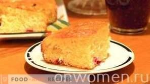 Cake aux canneberges sur yaourt
