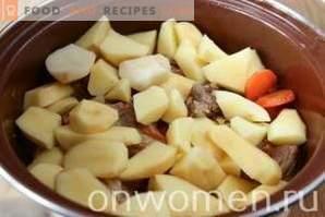 Côtes de porc aux légumes