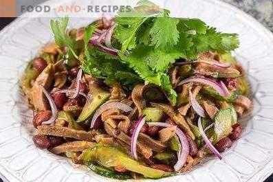 Salades de langue de boeuf