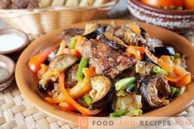Agneau cuit aux aubergines et tomates
