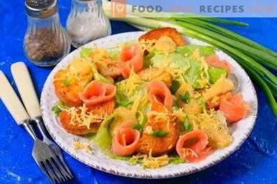 Salade César au poisson rouge