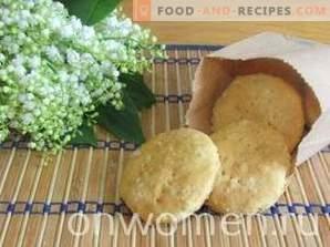 biscuits à l'avoine avec des copeaux de noix de coco