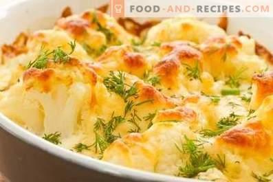 Chou-fleur cuit au four avec du fromage