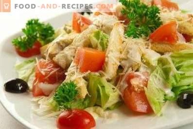 Salade César au chou chinois