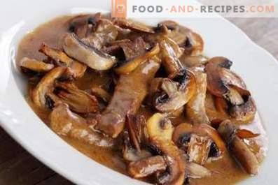 Ragoût de porc aux champignons