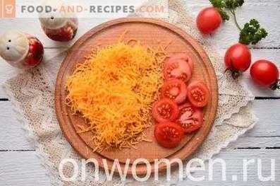 Courge cuite au four avec tomates et fromage