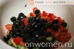 salade grecque aux champignons