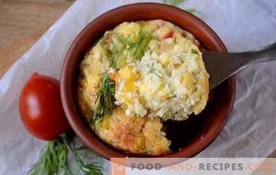 Casserole de maïs et caillé: savoureux, sain et beau! Étape par étape la recette de la photo de l'auteur casseroles de fromage cottage et de maïs en conserve