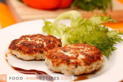 Les côtelettes de poulet sont les meilleures recettes. Comment faire cuire des galettes de poulet et savoureux.