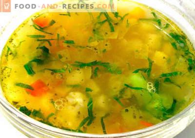 Bouillon de légumes - les meilleures recettes. Comment bien et savoureux cuire le bouillon de légumes.