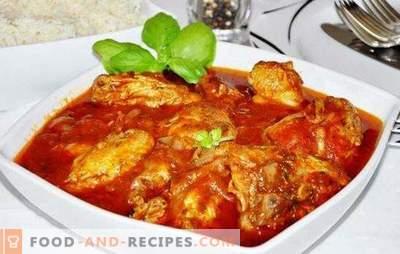 Le poulet cuit à partir d'un poulet dans un multicuiseur - un plat généreux! Recettes poulet chakhokhbili hospitalier dans une cocotte